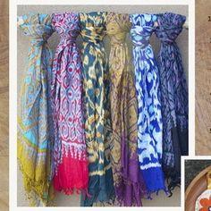 Turkish Ikat Scarves $110
