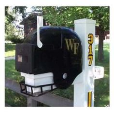 Wake Forest Demon Deacons Helmet Style Mailbox