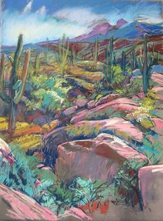 "Foothills"" by Annie Helmericks Louder. Plein air pastel on sanded paper Chalk Pastel Art, Pastel Artwork, Oil Pastel Drawings, Oil Pastel Art, Chalk Pastels, Pastel Paintings, Horse Paintings, Soft Pastels, Oil Pastel Landscape"