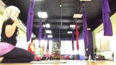 AIReal Yoga : Gentle Slow Flow Aerial Yoga full class Carmen Curtis
