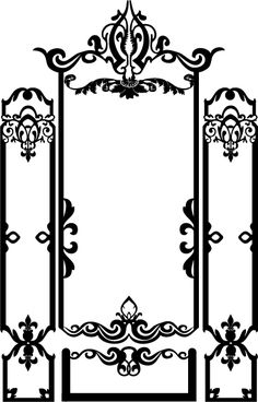Wall Decals  Baroque Molding Picture Frame-WALLTAT.com Art Without Boundaries