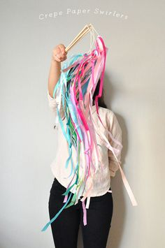Crepe Paper Swirlers! (Perfect for New Years Eve)