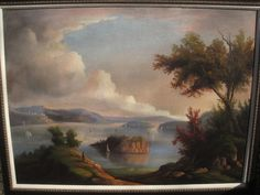 Large well done Hudson River Valley oil painting offered by seller audee17