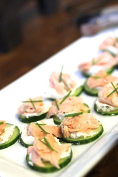 cucumber and salmon