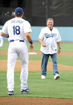 Actor William Shatner threw out the ceremonial first pitch during Star Trek Night at #Dodger Stadium on Aug. 3, 2012.  http://celebhotspots.com/hotspot/?hotspotid=6452&next=1