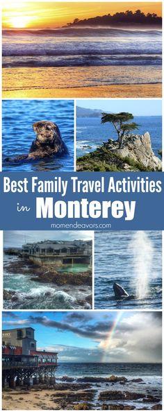 10 Best Family Travel Activities in Monterey, California - Mom Endeavors Monterey California, California Vacation, Monterey Mexico, Central California, Monterey Bay, Amazing Destinations, Travel Destinations, Packing List For Travel, Travel Tips