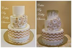 Butter Cream Covered With Fondant Accents Chevron Design Butter Cream Covered… Chevron Birthday, 2nd Birthday, Chevron Cakes, Cake Central, Take The Cake, Cupcake Cakes, Cupcakes, Cake Decorating, Decorating Ideas