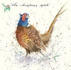 Wrendale Christmas card Pheasant the christmas spirit