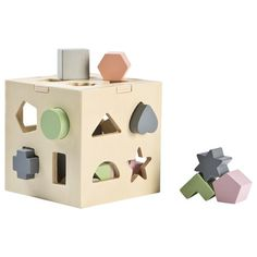 STOY Wood Shape sorter Beige Wooden Baby Toys, Wood Toys, Cnc, Nursery Toys, Wooden Shapes, Developmental Toys, Montessori Toys, Wooden Hand, Wooden Puzzles