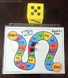 Free CVC Word Board Games - Playdough To Plato