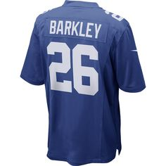 6db191eb58f Medium Men s New York Giants Saquon Barkley Nike Royal Game Jersey