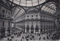 Milano Nuovo Interno Galleria viaggiata animata C444
