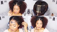 How To Wear Hair Jewelry On Natural Hair  Read the article here - http://www.blackhairinformation.com/by-type/natural-hair/how-to-wear-hair-jewelry-on-natural-hair/