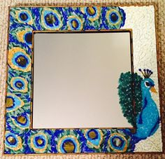 Peacock Mosaic Mirror by HelloClariceCrafts on Etsy