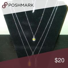 Necklace & Earrings Yellow & Silver pendants Jewelry Necklaces