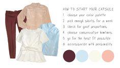 How to create a work capsule wardrobe via @stylebookapp #fashionapp #capsulewardrobe #outfitplanner