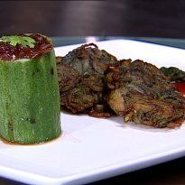 Pyazi Kebabs: A common #Pakistani vegetarian #kebab cooked in light oil and served as an appetizer.