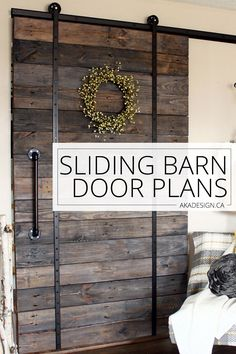 Sliding barn door plans. So much cheaper than the kits they sell. via @akadesigndotca