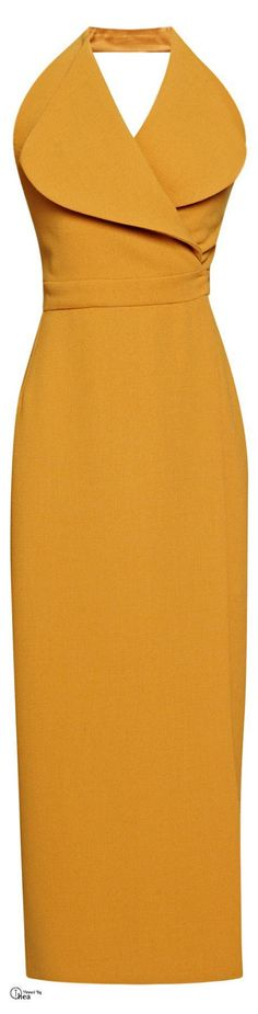 @roressclothes clothing ideas #women fashion mustard maxi dress