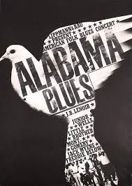 By Günther Kieser 'AlabamaBlues' / Conceptual Image Period Jazz Poster, Blue Poster, Gig Poster, Graphic Design Posters, Graphic Design Inspiration, Contexto Social, Black And White Posters, Love Posters, Arte Popular