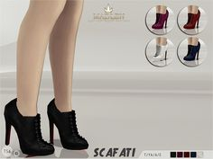 Madlen Scafati Boots Found in TSR Category 'Sims 4 Shoes Female'