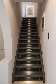 Met krijtbord stootborden kun je je trap voorzien van leuke berichten voor zowel je gasten als je huisgenoten! Met LED-verlichting in de treden laat je je trap nog extra stralen.