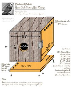 Newly Designed Barn Owl Nesting Box by #Kara Skye Art @Urban Explorer