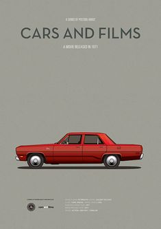 Poster of the car of Duel. Illustration Jesús Prudencio. Cars And Films