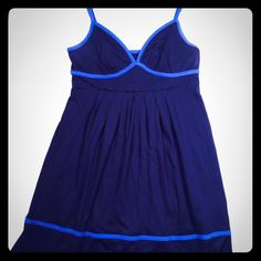 American Eagle Sundress Super cute sundress by American Eagle / adjustable straps / Navy with light blue accents- empire waist with flowy bottom. Size Medium American Eagle Outfitters Dresses