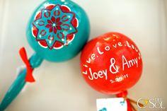 Colorful Maracas- handpainted as wedding gifts? Shake as we walk down the aisle?