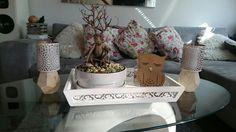 Bonsai Baum  Eule  Kerzenständer  Tolle Simple Tischdeko