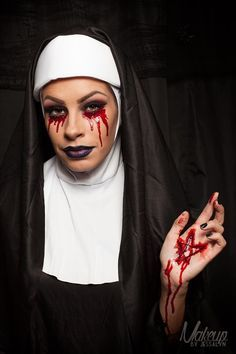 Image result for scary nun makeup