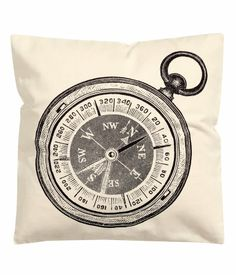Compass Print French Vintage Accent Decorative Throw Pillow Cover Cotton Throw Pillow Cover Cushion 16 X Decorative Items, Decorative Throw Pillows, Hm Home, Red Shop, Pillow Fight, H&m Online, Cotton Pillow, Throw Pillow Covers, Cushion Covers