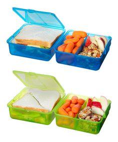 Look at this #zulilyfind! Green & Blue Lunch Cube Set by Sistema #zulilyfinds