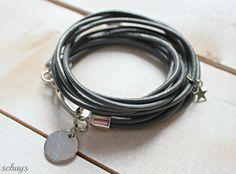 ** Wickelarmband aus Leder ** von schuys auf DaWanda.com