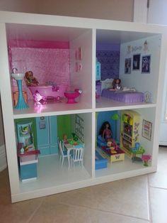 Image result for barbie house ikea kallax