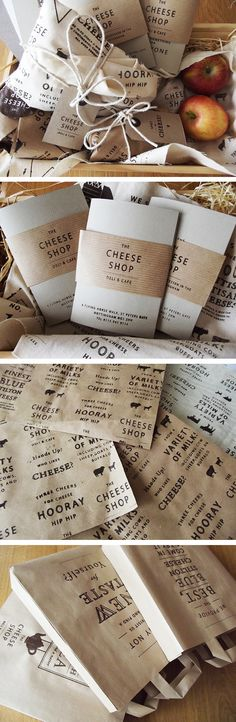 The Cheese Shop by Charlotte Estelle Littlehales, via Behance. Now I want some cheese #packaging PD