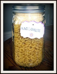Mac & Cheese Jar Meal to add to your long term food storage shelf.