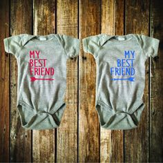 My Best Friend Bodysuit and Tee Set