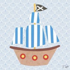 Collage Pirate Ship Canvas Wall Art - Wall Sticker Outlet
