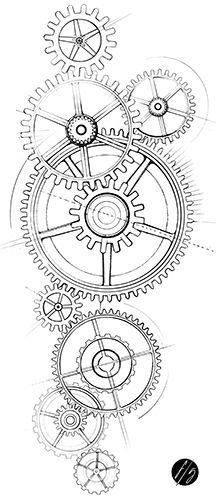 Resultado de imagen para engrenage montre dessin