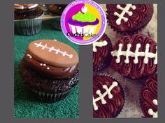 Power Bowl chocolate football cupcakes