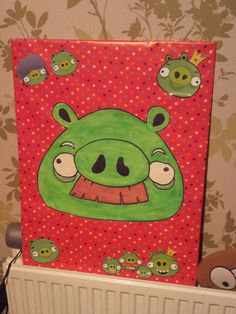 Pin the moustache on the Angry Bird Pig.  Angry Bird party games