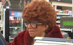 Lady in very bad wig