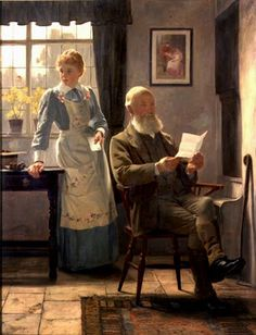 """""""The Letter"""", 1898 by James Hayllar"""