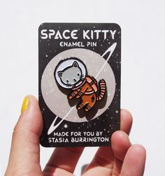 Space Kitty pin - Stasia Burrington