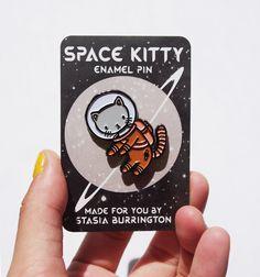 Space Kitty pin - Stasia Burrington