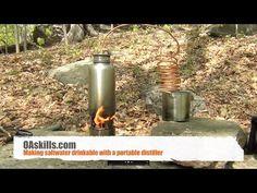 DIY Portable Distiller - How to make seawater drinkable - YouTube