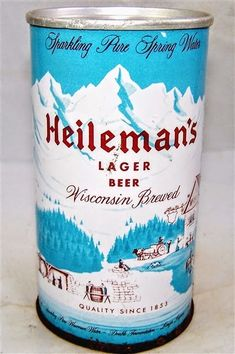 Heileman's Lager Beer  Wisconsin Brewed , La Crosse WI * 1959 * Beer Can Collection, Old Beer Cans, Label Shapes, Unusual Names, Beer Company, Lager Beer, Beer Brands, La Crosse, Soft Drink