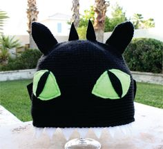 Toothless the Night Fury Black Dragon With Wings and Teeth Inspired Hat: How to Train Your Dragon -ish Cartoon Kawaii Crochet Beanie Hat. , via Etsy.